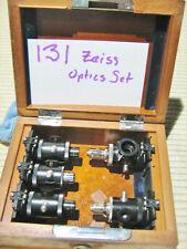 #131 Vintage Carl Zeiss Microscope 5 piece Optics Kit (condensers?)