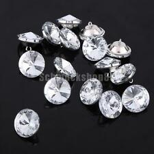 50pcs Crystal Satellite Buttons for Sewing Craft Sofa Upholstery Crafts 25mm