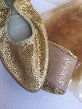 Gustave Of The Virgin Islands Gold Glitter Ballet Slippers 5 1/2 - 7 Medium Shoe