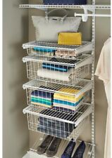 4 Drawer Storage Organizer Closet Kit White Bedroom Bathroom Wire ClosetMaid