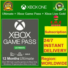 XBOX LIVE GAME PASS Ultimate 12 Months 24x14 Day (364 Days)   LIVE GOLD+GAMEPASS