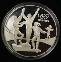 1993 Australia Silver Proof Olympic 100 Years Commemorative $20 Coin with COA