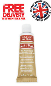 Rub n Buff Original Metallic Gilding Permanent Wax Leather Wood - Gold Leaf