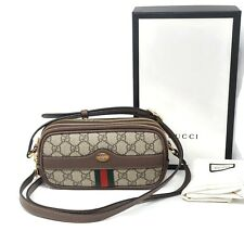 100% Auth Brand New Gucci Mini Ophidia GG Supreme Canvas & Leather Crossbody Bag