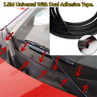 Upgraded 1.8M Rubber Seal Strip for Car Front Windscreen Wiper windshield Black
