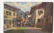 Oberammergau Strassenwinkel im Unteren Dorf Vintage Postcard Germany 396a