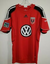 Adidas 2009-10 DC United Soccer Jersey MLS Formotion Red Volkswagen size Medium