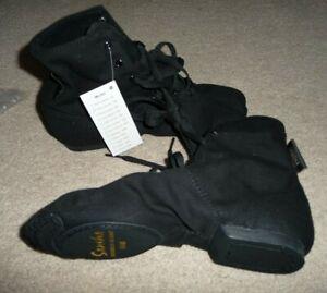 NEW Sansha Soho JB3 Black unisex Canvas Jazz Shoes Boot Size 10 Dance Hip Hop
