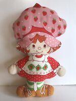 "Vintage STRAWBERRY SHORTCAKE 16"" Doll Pillow Vtg 1980s"