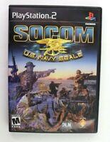 SOCOM: U.S. Navy SEALs (Sony PlayStation 2, 2003) Black Label Complete Tested