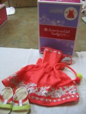 """18"""" American Girl Doll Clothes SUNNY DAY DRESS Sandals Headband NEW in box"""