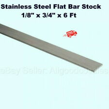 Stainless Steel Flat Bar Stock 18 X 34 X 6 Ft Rectangular 304 Mill Finish
