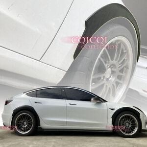 Matte Black front rear fender flare kit for Tesla 17~20 Model3 sedan ◎