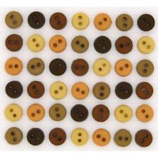 per pack of 40 ... Dress It Up Shaped Novelty Buttons Round Primary Miniatures