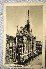 """CPA """" PARIS - La Sainte Chapelle - Construite sur l'ordre de Saint Louis"""