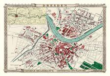 George Bradshaw'S CONTINENTAL Città Piano di Dresda 1896 - 1000 Pezzo Puzzle