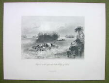 CANADA Rapids Approach to Village Cedars - BARTLETT 1880s Antique Print