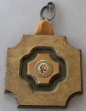 Beautiful Vintage Enameled Wooden Wall Hanging - Latin Dealvia Jervi - VGC