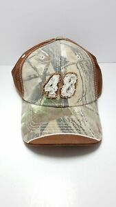 NASCAR - 48 Jimmie Johnson Brown and Camo Hat by Chase Authentics Adjustable