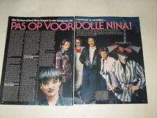 Nina Hagen Joe Cocker Meat Loaf clippings Holland Dutch