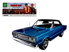Greenlight 1:18 TOMMY BOY Movie 1967 Plymouth Belvedere GTX Diecast Blue 19005
