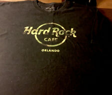 Hard Rock Cafe Orlando Florida s/s Camo Logo Black Crew T-shirt Mens XL