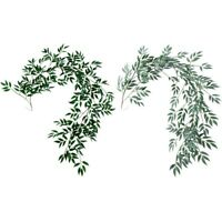 1.8M Artificial Fake Eucalyptus Willow Leaves Green Plants Wedding Diy Deco Z8Q4