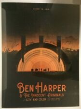 16 BEN HARPER HOLLYWOOD BOWL CONCERT POSTER 8/19 AP/150 S/N AUTOGRAPHED BY BAND