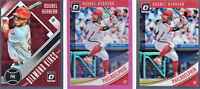 2018 Donruss Optic Pink #85,Diamond kings, lot of three Odubel Herrera Phillies