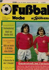 Fußball Woche 38/1974,Bundesliga,BORUSSIA NEUNKIRCHEN POSTER,Stanley Matthews