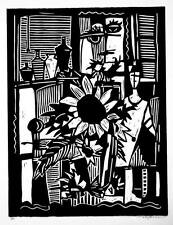 """""""EARLY MORNING"""" original linocut..handsigned edition 25.. mjonesart"""