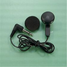 "NEW Mono Earbud Headphone with 1/8"" (3.5mm) Plug for Pocket Radio ++FREE SHIP!"