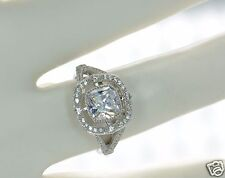 Solid 925 Sterling Silver Cushion Cut Simulated Diamond Engagement Ring Sz-7 '