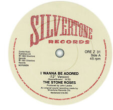 Stone Roses. I Wanna Be Adored. Repro record label sticker