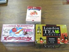 3 Teas Celestial Seasonings w/ Tin, New English Rosehip Hibiscus, London Jasmine
