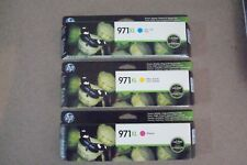 CN626AM, CN627AM, CN628AM HP 971XL Ink Cartridge Lot of 3