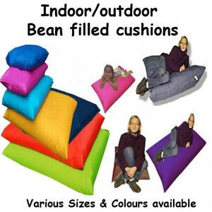 Indoor Outdoor Floor Cushion Beanbag Pillow Bean Bag Kids Adults FILLING INC -UK