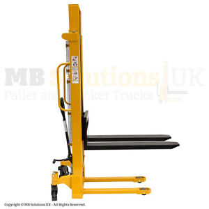 Hydraulic Manual Fork Lift Warehouse Stacker 2000kg cap.1.6m Pallet Pump Stacker