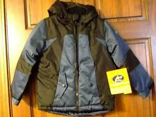 NWT ~ ATHLETECH blue black hooded winter jacket coat ~ boys XS 4 5
