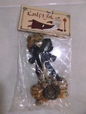 VINTAGE NEW IN ORIGINAL BAG  KURT S. ADLER CAT AND MOUSE CHRISTMAS FLAT ORNAMENT