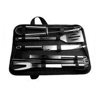 10 pièces accessoires barbecue pic pince pinceau couteau acier inoxydable