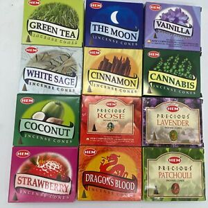 HEM BOX OF 10 INCENSE CONES YOU CHOOSE SCENT! BUY 2 GET 3 FREE! (ADD 5 TO CART)