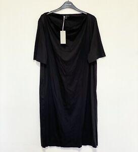 COS Cowl Neck Crêpe Kleid, schwarz Größe L (UK 14) UVP £ 59