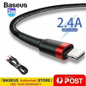 Baseus USB Charging Phone Cable Data Cord Charger For iPhone 12 11 7 X 8 6+ iPad
