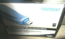 TRENDnet TFM-560U 56K Data Fax Voice Modem High Speed USB Connection