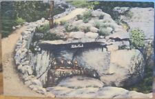Tennessee Postcard SHELTER ROCK Dwarf Gnomes ROCK CITY Lookout Mountain Linen