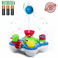 Water Baby Bath Toys with Bathtub Toy Organizer - Whale Island Bathtub Toys