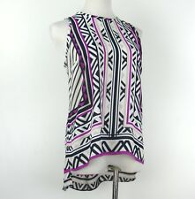INC International Concepts Top Blouse Shirt Multi-Color Sleeveless Size 10P