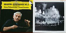 Brahms Symphony No.3 Bernstein DG Dig. 410083-2 live rec. West-Germany fs oM