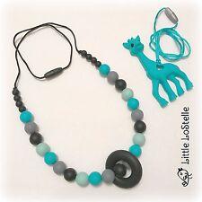 Silicone Baby Teether Teething Necklace Nursing Jewelry Nursing Beads & Giraffe